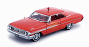 1964 Ford Galaxie 500 Chief Fire Department Car, Red - Sun Star 1448 - 1/18 Scale Diecast Model Toy Car