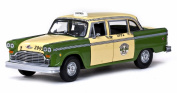 1981 Chicago Checker Taxicab, Yellow - Sun Star 2502 - 1/18 Scale Diecast Model Toy Car