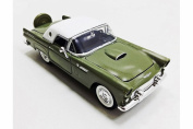 1956 Ford Thunderbird Closed Convertible, Green - Motormax 73312 - 1/24 scale Diecast Model Toy Car