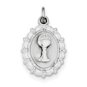 Sterling Silver Rhodium-plated Holy Communion Charm