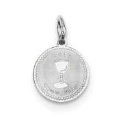 Sterling Silver Holy Communion Disc Charm