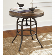 Ashley Furniture Signature Design - Vennilux End Table - Vintage Casual - Round - Greyish Brown