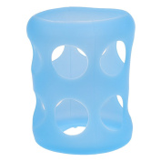 Sharplace Glass Baby Feeding Bottle Cover Bottle Silicone Sleeve Protect Insulating - Blue, as described