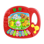Clearance/BESTOPPEN Musical Toys for Kids Children,Baby Musical Instrument Toys Touch Play Keyboard Cartoon Animal Farm Piano Toy Educational Development Lovely Funny Gift for Nephew