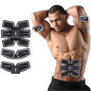 [New Version 2017] Jingfude Abdominal Muscle Toner Body Toning Fitness Training Gear Abs Fit Training ABS Fit Weight Muscle Training Abs Belt Toning Gym Workout Machine, Smart Home Fitness Apparatus Unisex Support For Men & Women