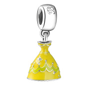 Belle Dress Dangle Charm Bead
