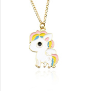 HENGSONG Cartoon Unicorn Horse Pendant Chain Choker Necklace Jewellery Gifts