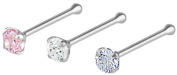Set of 3 Nose Piercing Studs