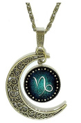 (Capricorn) Necklace With Symbol Zodiac Sign Choice Gift Idea
