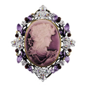 Sticks Jewellery Classic Vintage Style Retro Cameo Beauty Queen Head Brooch