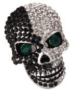 Loveangel Jewellery Women's Crystal Skull Pin Brooch Biker Jewellery