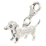 Perfectcharm Daschund Dog Charm - Sterling Silver With Lobster Clasp