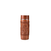 Thermos Silver Insulated Bottle Vacuum Bottle Travel Tumbler,360ml,Wooden Thermos Bottle