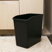 GAOLILI Rectangular Trash Toilet Bathroom Living Room Trash Creative Fashion Black Dustbins