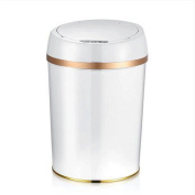 GAOLILI Creative Automatic Trash Cans Induction Home Bathroom Living Room Bedroom Plastic Covered With Simple Dustbins