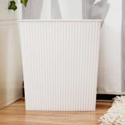 GAOLILI Creative Unsured Living Room Household Bathroom Dustbins Plastic White Rectangle Trash Can