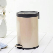 GAOLILI Household Stainless Steel Trash Cans Pedal With Lid With Barrels Dustbins