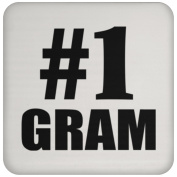 Number One #1 Gramme - Coaster, High Gloss Coaster, Best Gift for Birthday, Anniversary, Easter, Valentines Mothers Fathers Day