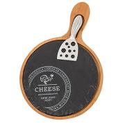 Slate Bamboo Round Cheese Board
