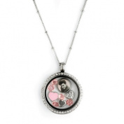 Elvis Heartthrob Floating Charm Locket Necklace