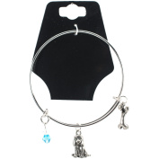 Charming Accents Adjustable Charm Bangle, 19cm , Beagle