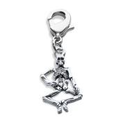 Skeleton Charm Dangle in Silver