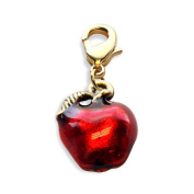 Red Apple Charm Dangle in Gold