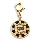 Casino Chip Charm Dangle in Gold