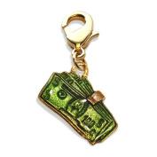 Money Clip Charm Dangle in Gold