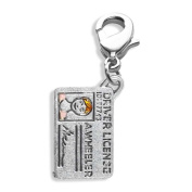 Driver's Licence Charm Dangle in Silver