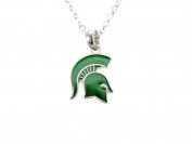 Michigan State Spartans Iridescent Green Charm Necklace Jewellery MSU.
