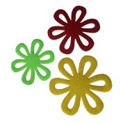 Sharplace 6pcs Flower Dining Table Pot Mat Trivet Kitchen Accessories Heat Proof