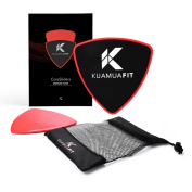 Core Sliders By KuamuaFIT – Dual Sided For Hardwoods & Carpets – Triangle Shape – Full Body Workout