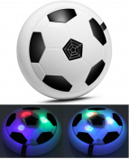 Comtechlogic® CM-2227 Air Power Glide Hover Foam Disc Ball Toy for Football Base Ball Soccer Games with LED Lights - Perfect Gift for Kids Children Teens Boys Girls to Training Indoor & Outdoor