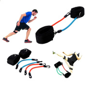 Someas Ankle Straps Resistance Kinetic Tube Bands Adjustable Leg Strength Training Workout Fitness for Kick Boxing Punch Taekwondo