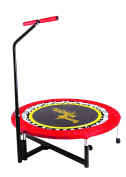 Boogie Bounce Mini Fitness Trampoline with T-bar Handle + DVD