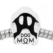 Dog Mom Charm European Bead Compatible for Most European Snake Chain Bracelet