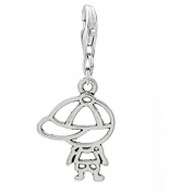 Lovely Boy Clip On For Bracelet Charm Pendant for European Charm Jewellery w/ Lobster Clasp