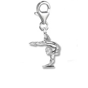 Gymnast Clip On For Bracelet Charm Pendant for European Charm Jewellery w/ Lobster Clasp