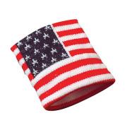 USA Flag Wristband America Patriotic Sweatband United States Wrist Band