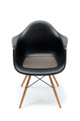 Hey-Sign Seat Surface for Designer Seat Eames Plastic Armchair / Brown Flecked 37 CM x 35 CM Lightly Mottled with Non-Slip