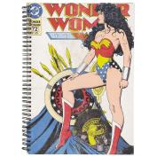 Wonder Woman Black Double Spiral Notebook A4