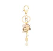 Da.Wa 1Pcs Charm Love Heart Bead Ball Pendant Keychain Car Key Ring Car Key Pendant Best Birthday Gift For Friends