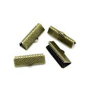 creafirm . 100 caps Ribbon Clip 20 mm Bronze