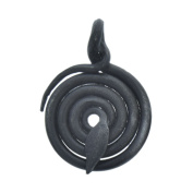 Forged Steel Coiled Snake Focal Pendant Drop by HHHDesigns