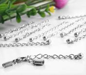 Ecloud Shop® 20X Metal Necklace Chain Extender Silver Tone 50-60mm