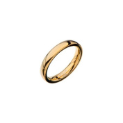 Inox Jewellery FRW5000G-5 High Polished Plain Wedding Band Stainless Steel Ring - Black & Gold - 3 mm & 5 in.