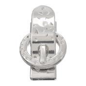 Souarts Silver Colour Belt Buckle Shape Metal Magnet Clasp