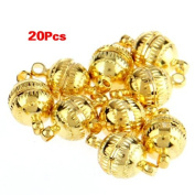 Gleader 20pcs Necklace Bracelet Gold tone Clasp Magnetic Buckle HOT