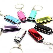 HuaYang Cute Mini Harmonica Keyring Music Instrument Present Gift Key Ring Loop Chain(Random Colour